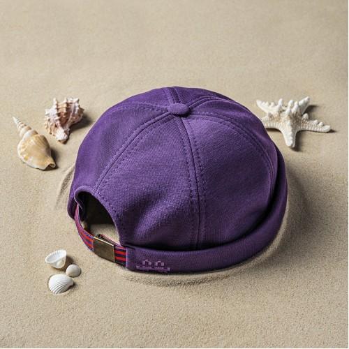 Шапка докер «Пора Валить» Фиолетовая
